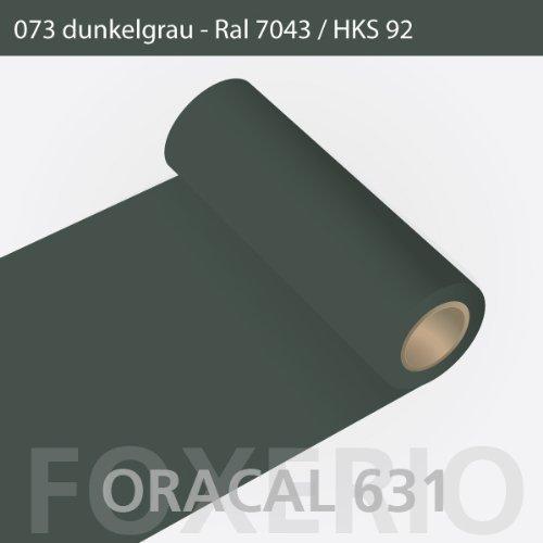 Orafol - Oracal 631 - 31cm Rolle - 5m (Laufmeter) - Dunkelgrau / matt, A26oracal - 631 - 5m - 31cm - 32 - kl - Autofolie / Möbelfolie / Küchenfolie