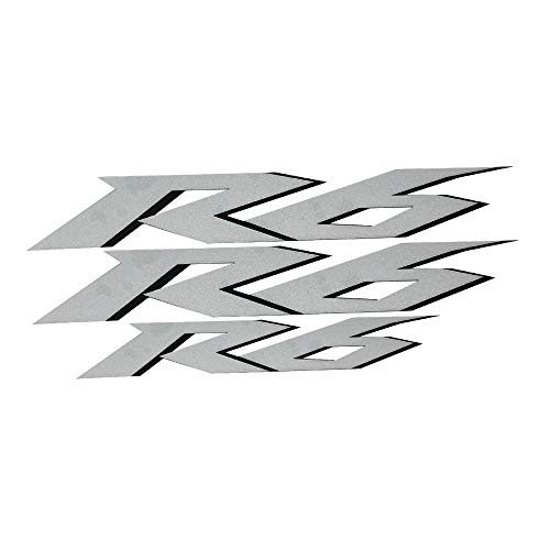 Silver Reflective Motorcycle Flat Plain Bike Decal Sticker Compatible...