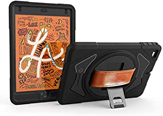 New Trent Gladius iPad Mini 4, iPad Mini 5 Case, Rugged 360 Degree Rotation Leather Hand Strap with Built-in Stand, Screen Protector (not for Mini 1/2/3)