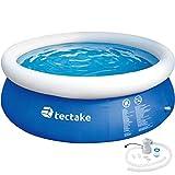 TecTake 800580 Piscina Desmontable, Swimming Pool, Tejido de PVC, Construcción Robusta, Fácil Montaje, Compacta - Disponible en Varios Modelos (Tipo 5 | No. 402898)