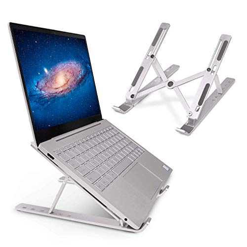 Laptop Stand Portable Aluminium Computer Holder Laptop Riser Lightweight and Adjustable Computer Stand up to 156 Ergonomic Comfortable for MacBook Pro Air Dell Samsung Lenovo