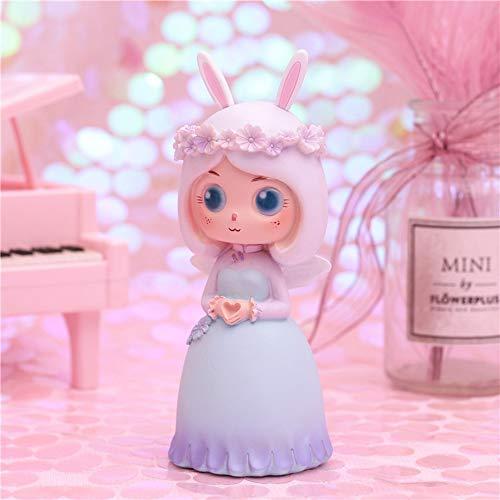 HIL Bloem Fee Hars Pop, Bos Ding Cartoon Meisje Ornament Decoratie, Woonkamer Slaapkamer Desktop Decoratie Verjaardagscadeau Kerstcadeau Kind Vakantie Cadeau,Blue