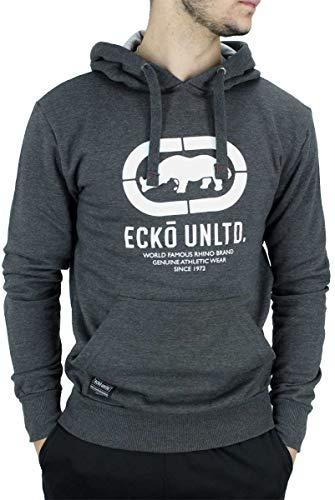 Ecko Homme Manches Longues Créateur par la Tête Capuche, Noir, Gris Charbon, Gris - Gris Charbon, S