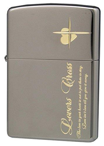 ZIPPO ジッポー オイルライター ラバーズクロス メッセージサイド ブラック × ゴールド 63050498