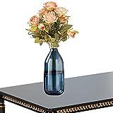TBSHX Vaso Lungo e Stretto, Vaso di Vetro Trasparente Vaso per Fiori Vetro Decorazione da Tavolo in Vetro Cristallo di Alta qualità, 30 cm (Color : Blue)