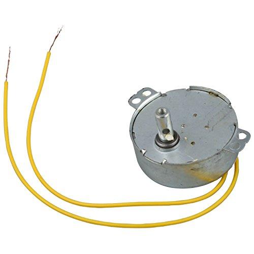 motore sincrono - SODIAL(R) 220V AC 50 / 60Hz 3 Watt 5RPM motore sincrono Giallo Wired