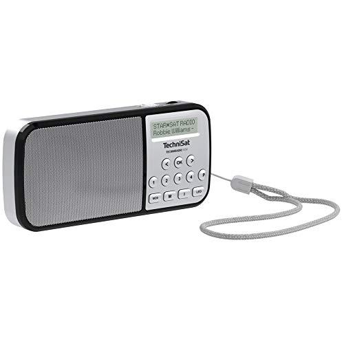 TechniSat TECHNIRADIO RDR – portables DAB+/UKW Radio (LCD-Display, Favoritenspeicher, Direktwahltasten, Kopfhöreranschluss, USB, AUX-in, LED-Taschenlampe, wechselbarer Akku, 1 Watt) silber
