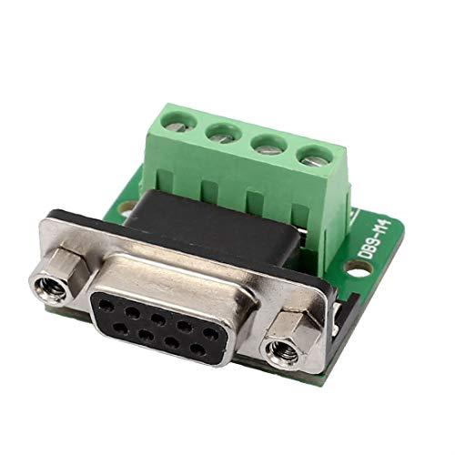 New Lon0167 DB9 RS232 Placa de adaptador hembra serial de 2 filas Módulo de señal del conector del terminal de 4 posiciones(DB9 RS232-2-reihige serielle Buchsen-Adapterplatte 4 - Positionierklemmen-