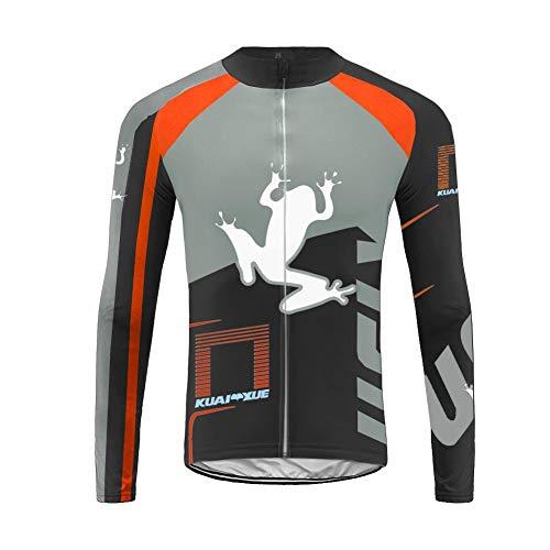 Uglyfrog Nuovo Abbigliamento Invernale MTB Termo Magliette Ciclismo Manica Lunga per Uomo ZRML01