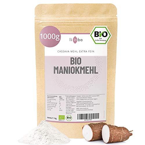 BIO MANIOKMEHL 1000g • Cassava Mehl bio 1kg • kontrollierte BIOqualität • PALEO • VEGAN • GETREIDEFREI • glutenfreies Mehl • in Deutschland abgefüllt