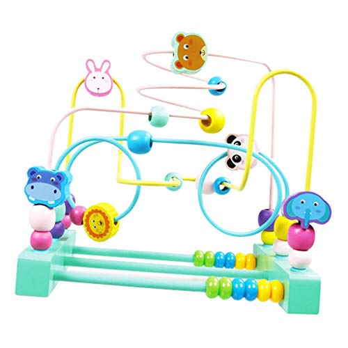 sharprepublic Classic Bead Maze Wooden Educational Circle Toy Xmas Gift for Baby Toddlers