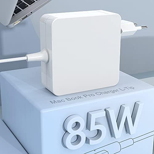 """Compatible con Cargador Mac Book Pro Adaptador de Corriente Punta en L de 85W Mac Book de 13""""y 15"""" y 17""""Pulgadas - Mediados de 2009 2010 2011 Mediados de 2012 Modelos, Funciona con 45W /60W /85W"""
