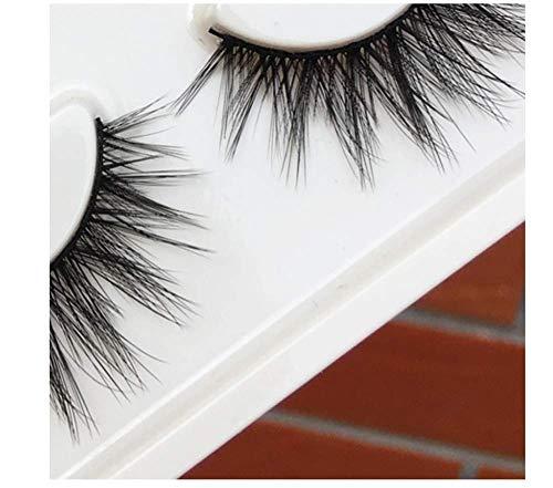 HYTGF Faux Cils Styles Cils Outils de Maquillage de Faux Cils Cross Natural Long Fake Cils Thread Thick Eyelash Extension