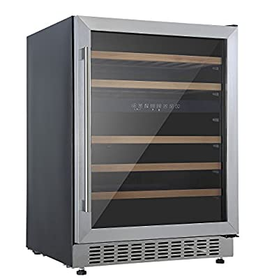 Cookology CWC605SS Stainless Steel Undercounter 60cm 2 Zone Wine Cooler 5-20C