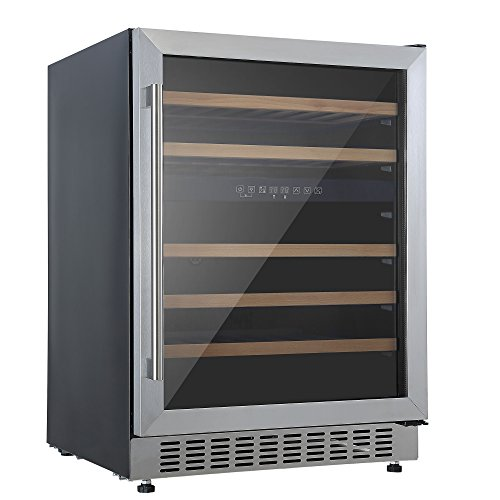 Cookology CWC605SS Stainless Steel Undercounter 60cm 2 Zone Wine Cooler 5-22C