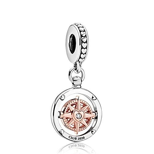 LILANG Pandora 925 Bijoux Bracelet Naturel Club Pendentif GIF Accessoires Charme Femmes Bricolage Cadeaux