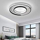 N/Z Home Equipment Lámpara Led de 64W Lámparas de atenuación Continua Dormitorio de Metal Blanco y Negro Luces de Sombra Blancas Cafe Bar Iluminación Interior Luminaria para Sala de Estar