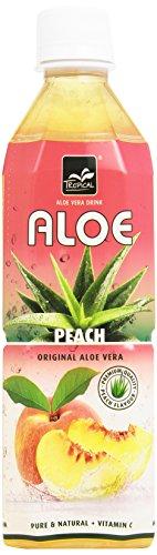 Tropical - Bevanda Analcolica, Con Aloe Vera, Gusto Pesca - 4 pezzi da 500 ml [2 l]