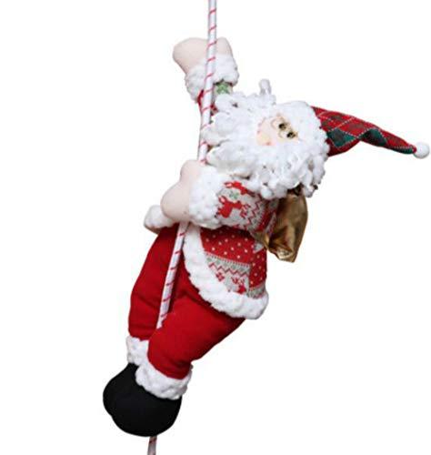 Decoraciones navideñas Colgante de Ventana Tela de Dibujos Animados Cuerda de Escalada de Navidad Ancianos Maestros de jardín de Infantes Adornos de paracaídas, 40 Cuerda de Escalada