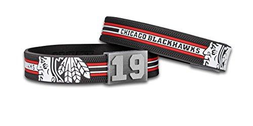 BRAYCE® Chicago Blackhawks Armband mit Deiner Trikot Nummer 00-99 I Eishockey pur mit dem NHL® Chicago Trikot am Handgelenk personalisierbar & handgemacht