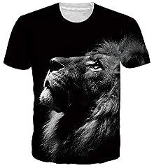 Unisex Camisetas 3D Patrón Impreso Camisetas Cuello Redondo Gracioso Verano Casual