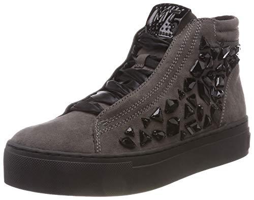 MARCO TOZZI Damen 2-2-25257-21 Hohe Sneaker, Grau (Dk.Grey Comb 225), 38 EU