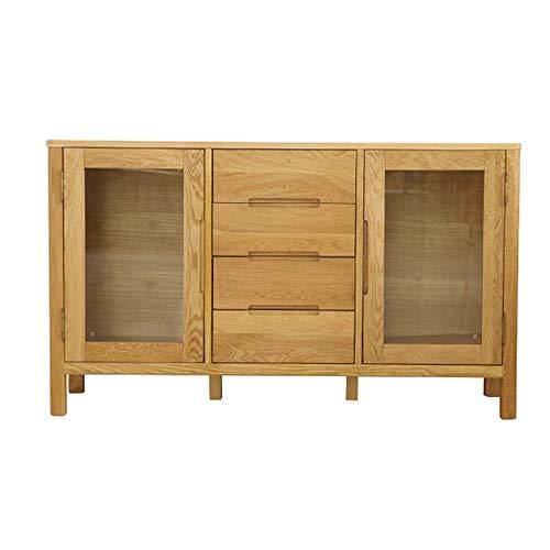 JIAGU Gabinete de Consola de Almacenamiento Puerta de Entrada de Madera Buffet Bar Gabinete de Almacenamiento Cocina Sala Comedor Aparador Mesa Decorativa (Color : Wood, Size : 135x40x80cm)