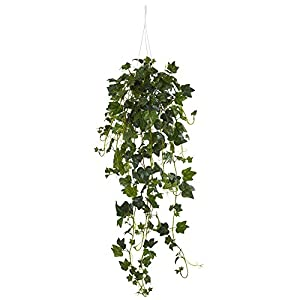 Nearly Natural Nearly Natural English Ivy Basket Artificial Hanging Plant Green 1