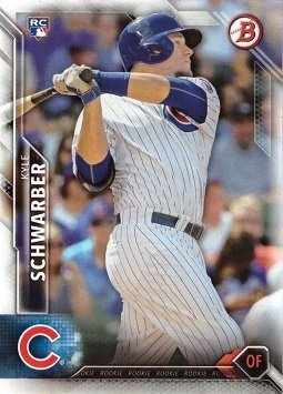 2016 Bowman Baseball #122 Kyle Schwarber Rookie Card