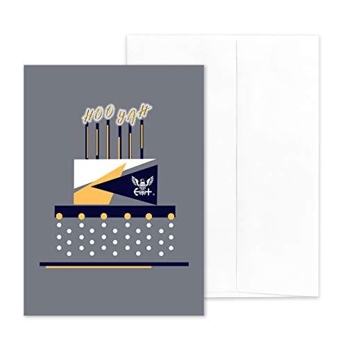 2MyHero - US Navy - Military Greeting Card With Envelope - 5' x 7' - Celebration Cake