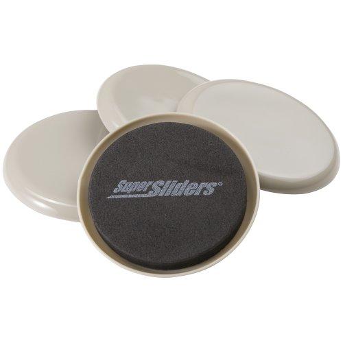 Wiederverwendbare Möbelbeweger für schwere Möbel auf Teppich (4er Pack) - 3-1/2' Round SuperSliders