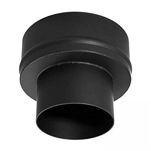 raik 12011101 Rauchrohr/Ofenrohr Erweiterung 120mm -200mm schwarz