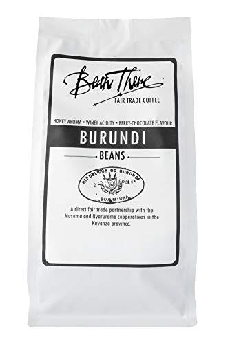 Bean There Fair Trade Coffee, Organic Whole Coffee Beans, Burundi, 8 Ounce