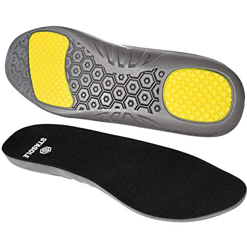 STASOLE Anti-Fatigue Insoles for Man and Woman Cushioning Gel Shoe Inserts with Arch Support and Shock Absorption Ideal for Hiking Work Boots and Athletic Shoes (Size:XL)