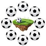 8 Piezas Bolas de Futbolín,Bolas de Fútbol de Mesa,Pelotas para Futbolín,Mini Pelota de futbolín, Pelotas de fútbol de Mesa,Futbolín de Mesa,para Accesorios Mesa del Juego del Futbolín