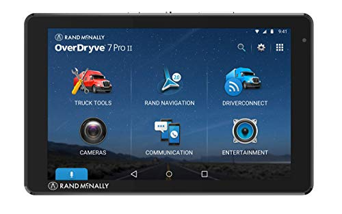 Rand McNally OverDryve 7 Pro Gen 2, 7-inch GPS Truck Tablet, Easy-to-Read Display, Dash Cam, Custom Routing, and Satellite Radio (OD7PROII)