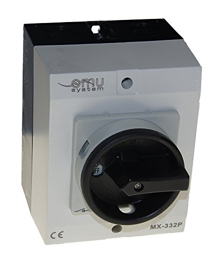 32A Hauptschalter Lasttrennschalter Not-Aus-Schalter MX-332P IP65/7,5 kW