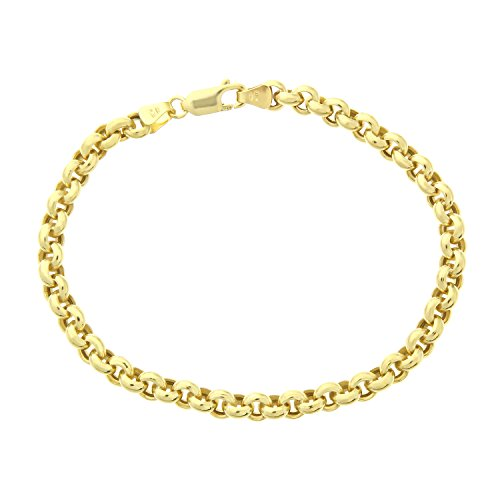 Citerna 9 ct Yellow Gold Thick Belcher Bracelet of 7.5 Inch/19 cm Length and 0.5 cm Width