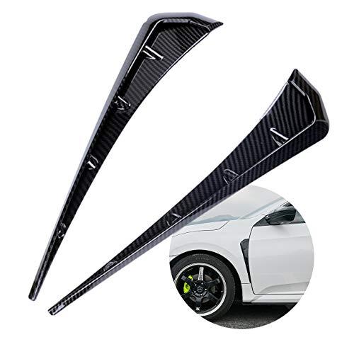 FuliLie 車用 エアロパーツ フェンダーダクト ダミーダクト フロントフェンダー サイドエアフロートリム (カーボン柄)