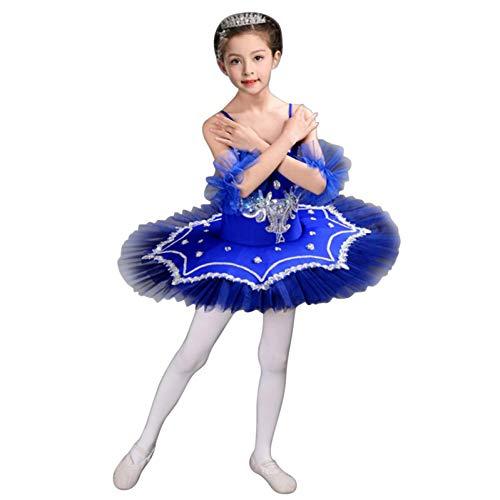 Julhold Falda de niña vestido de ballet Medias traje de ballet brillante falda de ballet vestido de princesa
