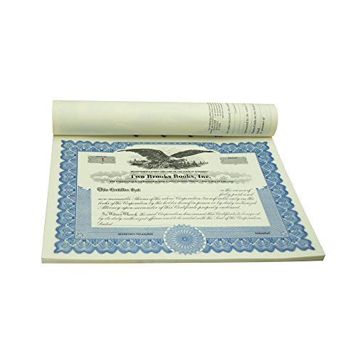 Blumberg Imprinted and Numbered Business Corporation and LLC Certificates (for Corporations, Blue Border, Bound)