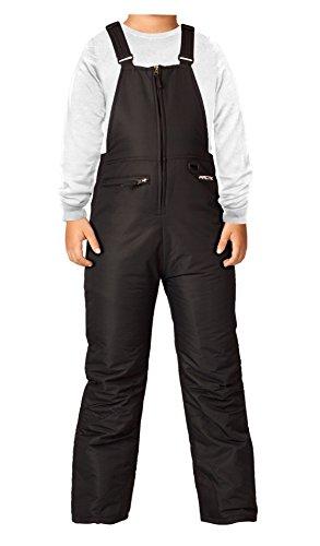 Arctix Kid's Insulated Snow Bib Overalls, Black, Medium/Regular