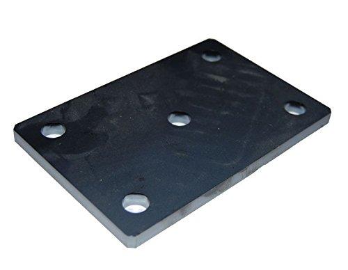 Stahlplatte Ankerplatte gelocht, gebohrt, Stärke 8mm gelasert - 150mm x 100mm