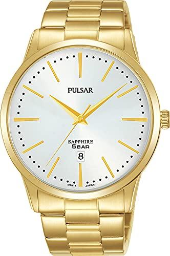 Pulsar Reloj Analógico para Hombre de Cuarzo con Correa en Metal PG8348X1