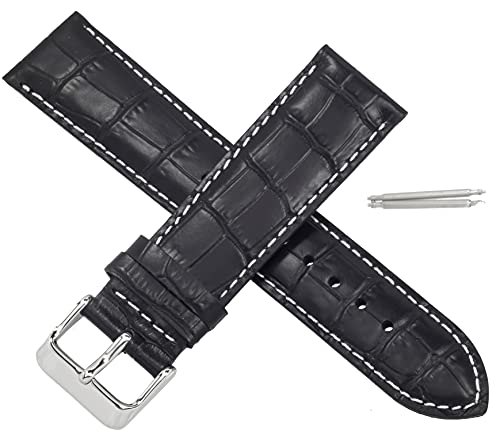 Correa de reloj Casio MTP-1374L MTP 1374L 1374 de cuero negro