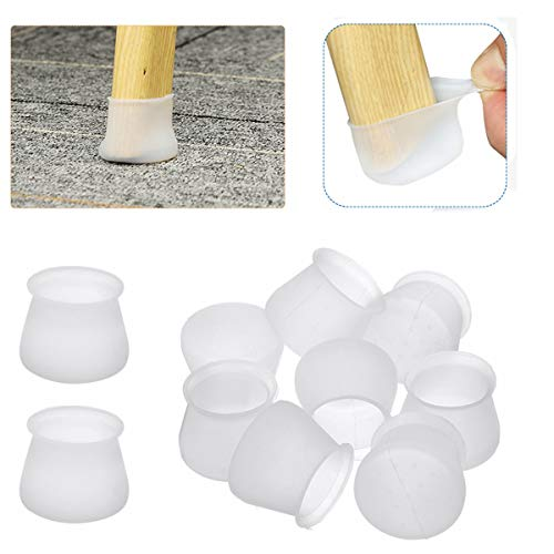 Silicon Chair Legs Protection Covers, LIUMY 36Pcs Chair Legs Floor Caps,...