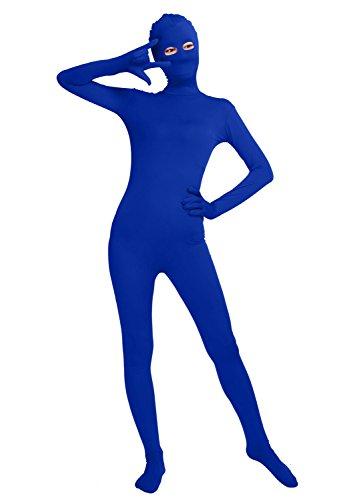 Frauen-Fit Ganzanzug Spandex One Piece Ganzkörper Zentai Kostüm Lycra Bodysuit (XXL, royal blue)