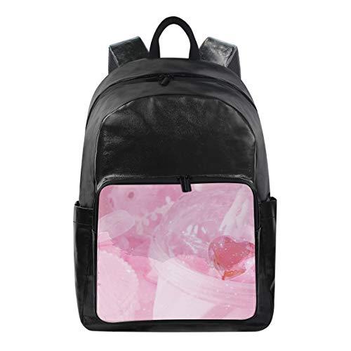 Mochilas para Estudiantes, para la Escuela, Viajes, Senderismo, Camping, Mochila para niño para niña   12.5 x 9 x 17.5 Pulgadas   Capacidad para portátil de 12.5 Pulgadas (patrón Rosa)