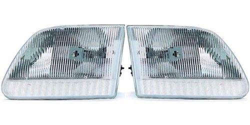 Go-Parts - PAIR/SET - for 1997 - 2004 Ford F-150 Front Headlights Assembly Front Housing / Lens / Cover - Left & Right (Driver & Passenger) Side - (Base Model + Edition + Lariat + XL