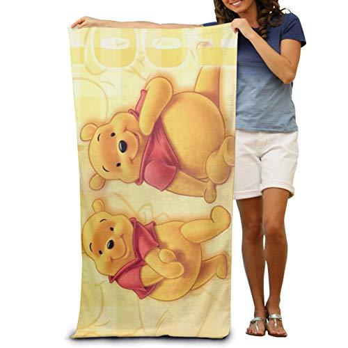 XCNGG Toallas de baño Winnie The Pooh Toalla Absorbente de baño Grande y Suave para Hombres y Mujeres se aplican a Las toallitas de Viaje Deportivas